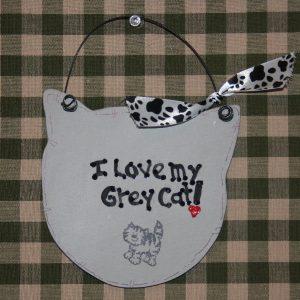 I love my grey cat!